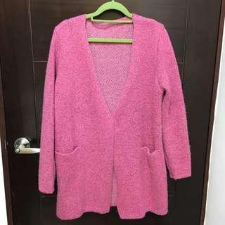 🚚 粉色針織厚外套