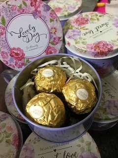 chocolate/ candy / teabag canisters - doorgift