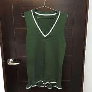 🚚 魚尾裙深綠色洋裝針織