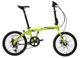 "Java Decaf TT 20"" foldable bike promotion"
