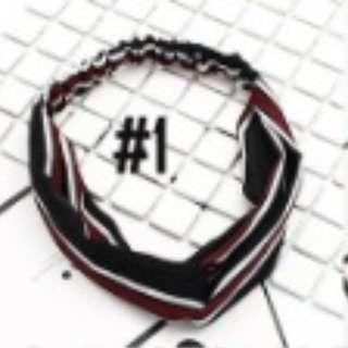 Bandana Turban Stripe Headband hairband elastis ala korea #1