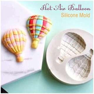 🎂 HOT AIR BALLOON SILICONE MOLD for Pastry • Chocolate • Fondant • Gum Paste • Candy Melts • Jelly • Gummies • Agar Agar • Ice • Resin • Clay • Candle Wax • Soap • Chalk • Crayon