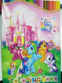 🚚 My little pony colouring book