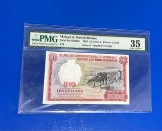 Buffalo $10 PMG 35