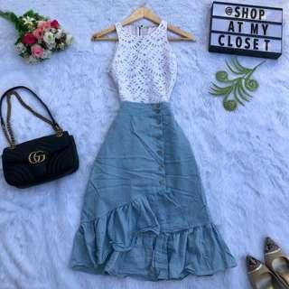 Alice + Oliva Top / HQ Zara Ins Skirt