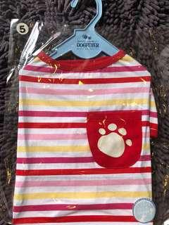 🚚 Dogfever Red Pink Strap with pocket dog tee