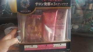 ASIENCE MEGURI ( shampoo,conditioner,keratin) made in Japan