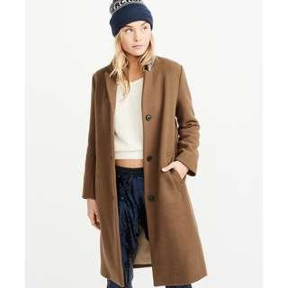 THE A&F DAD COAT, Brown, XS