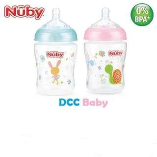Nuby Natural Touch All Around Printed with Silicone Nipple with New Prints 270ML/9OZ (Single Pack)