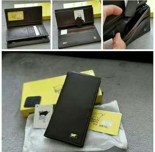 (Stock on 20Apr-2) Braun Buffel brand new authentic black leather unisex long wallet