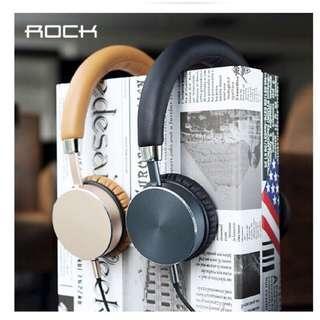 🚚 Rock耳機(僅拆封,無盒子,有防塵袋)