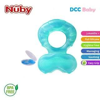 Nuby Comfort Silicone Fish Shaped Teether with Teething Bristles and Hygienic Case