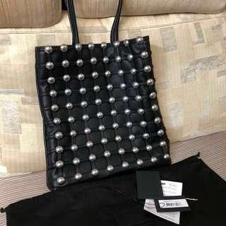 $1500 Alexander Wang dome stud black leather tote bag 鍋釘黑色皮袋