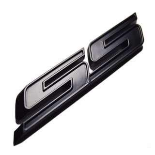 "3D Black ""SS"" Fender Trunk Emblem Badge Logo"