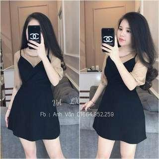 Set 2 in 1 dress and top