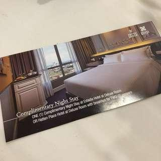 Hatten place or estadia hotel voucher