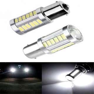1156 33SMD Super Bright WHITE LED for Signal Reverse & DRL on Cars Bikes
