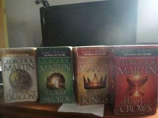 GAME OF THRONES 4 BOOKS for sale