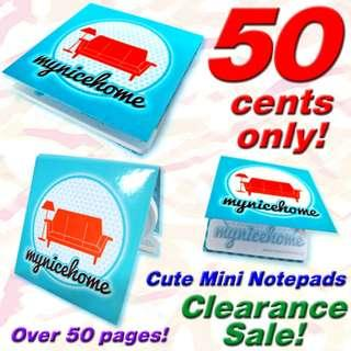 Notepads for sale (Portable Stylistic Mini Design, Unique Trendy Shape) *END OF YEAR 2019 CLEARANCE SALE, Low Prices less than $1 each!*