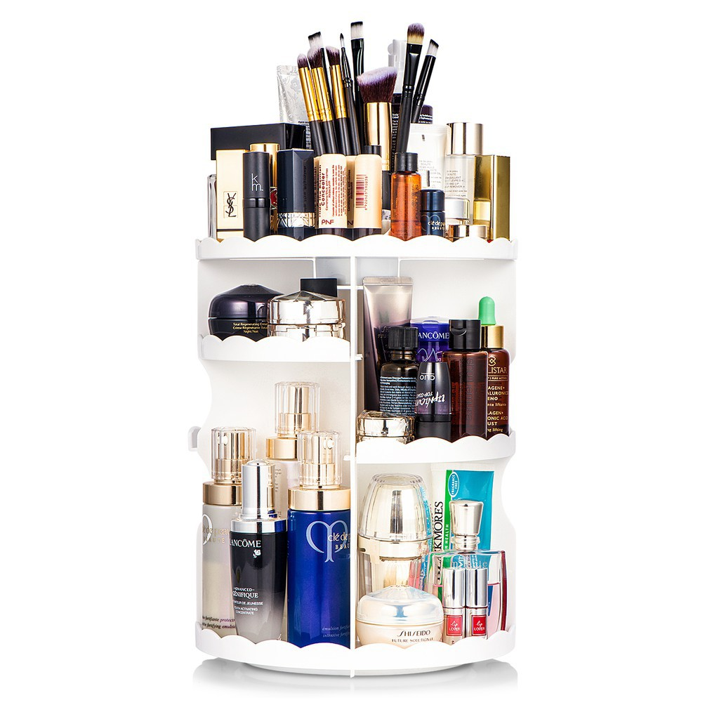 360 Degree Makeup Organizer Rotatable Skincare Organize Health