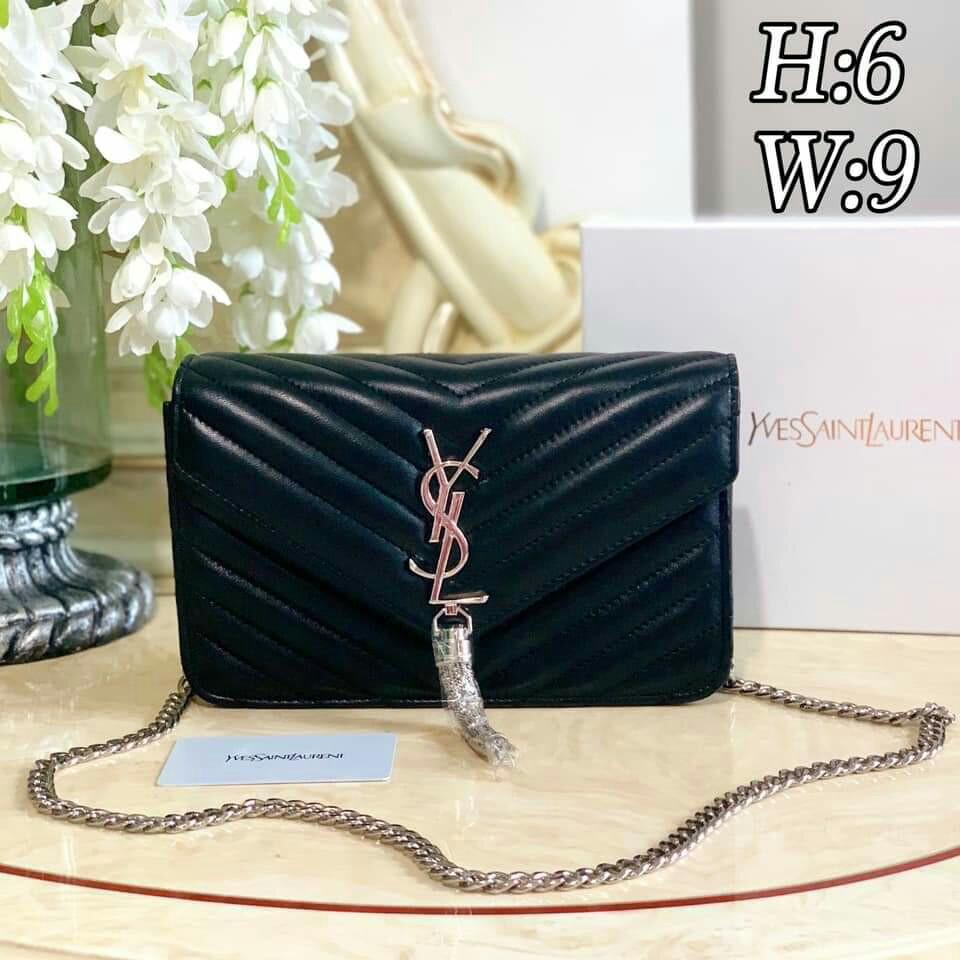 9inches with Box YSL Chain Bag YSL Sling Bag YSL Tassel Bag YSL Bag ... 97734a38f582a