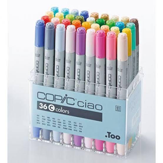 (特價)日本制 Copic Ciao 墨克筆 36色 連盒 A/B/C 色
