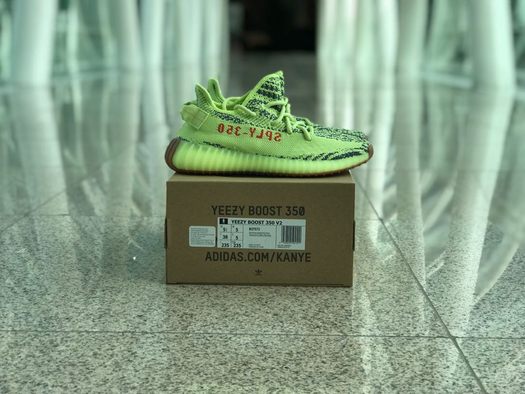 """3134a9eeabed7c Adidas Yeezy Boost 350 V2 """"Semi Frozen Yellow"""""""