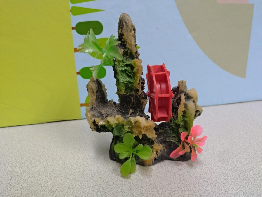 Aquarium pet hill stone ornament display 水族 魚缸 石山 擺設