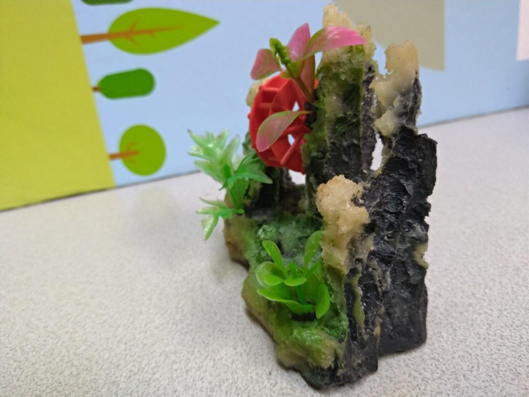 Aquarium pet stone hill ornament display 水族 魚缸 山石 擺設