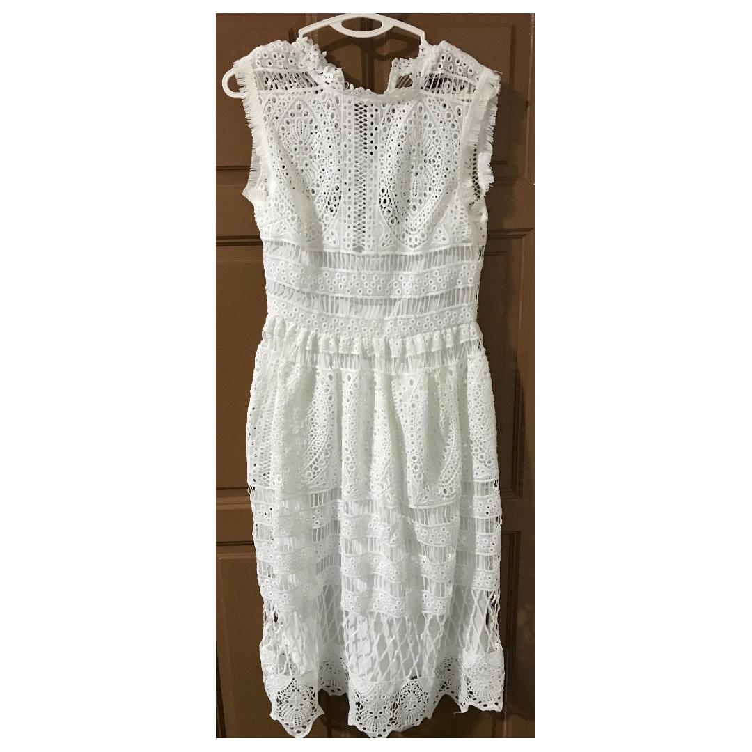 Asos White Lace Dress Brand New Womens Fashion Clothes