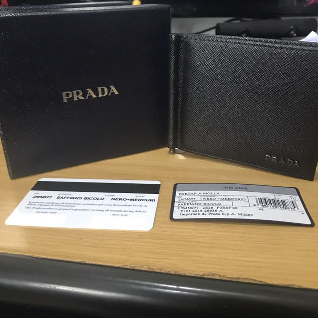 1f4f9cb8051f ... best price bn prada wallet men saffiano leather money clip black mens  fashion bags wallets wallets