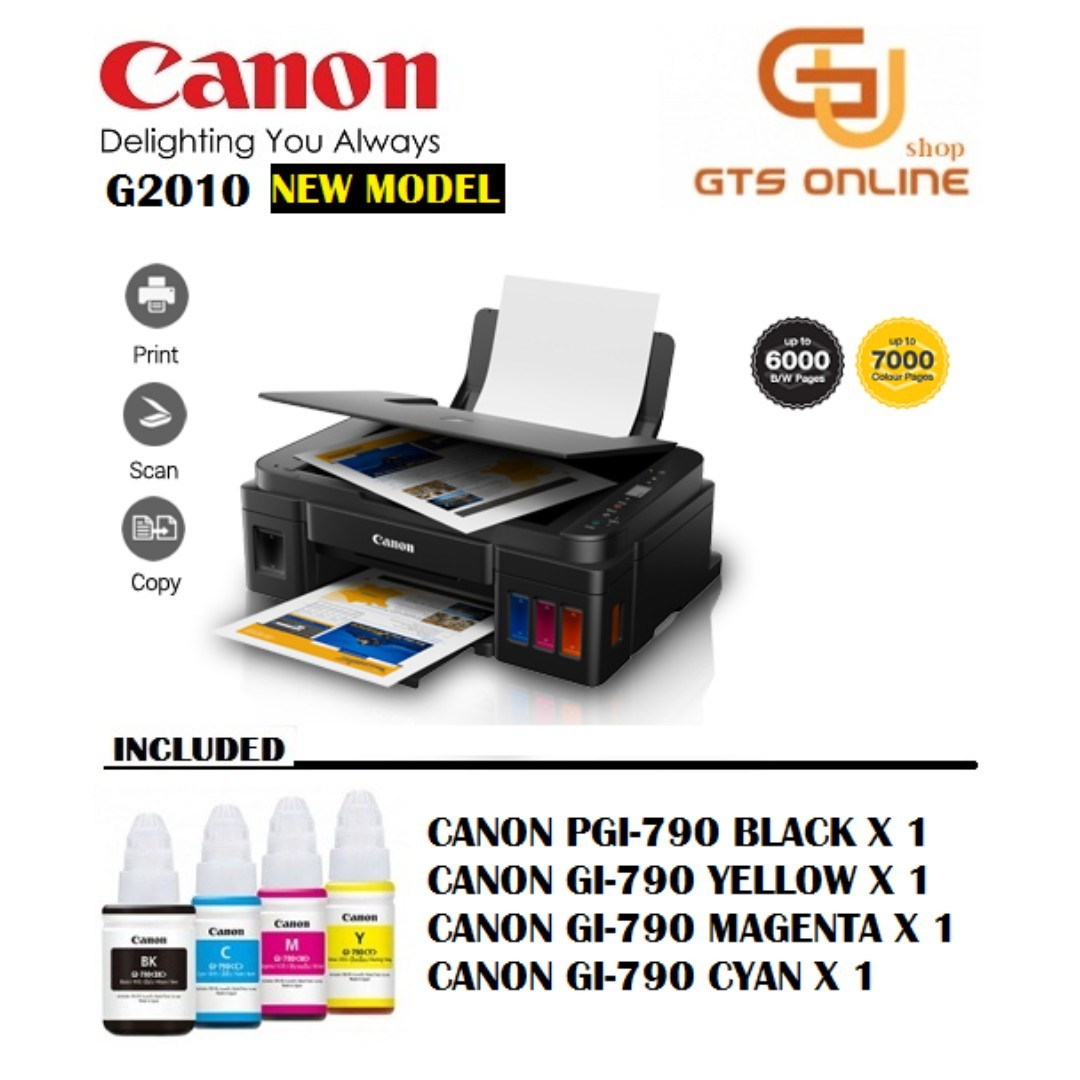 Canon Pixma G2010 3in1 Inkjet Printer With Hybrid Ink (With LCD Indicator)
