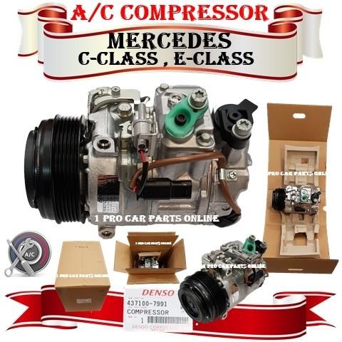 Car Aircon Service Parts New Denso Compressor Mercedes C Class E Class