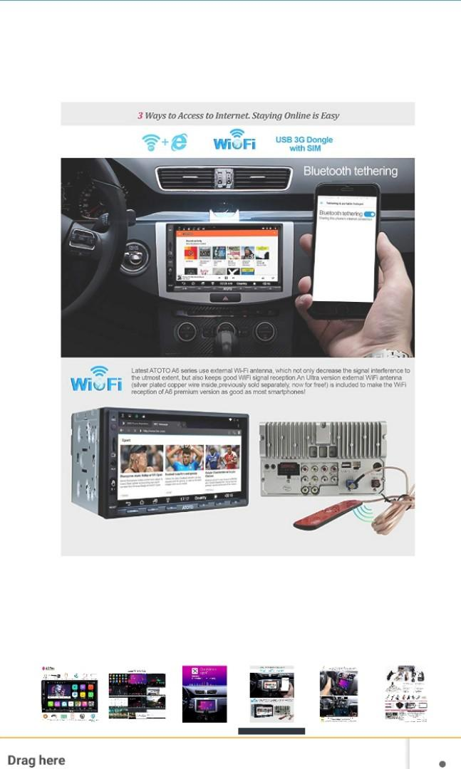 Car android player ATOTO A6 PRO, Car Accessories