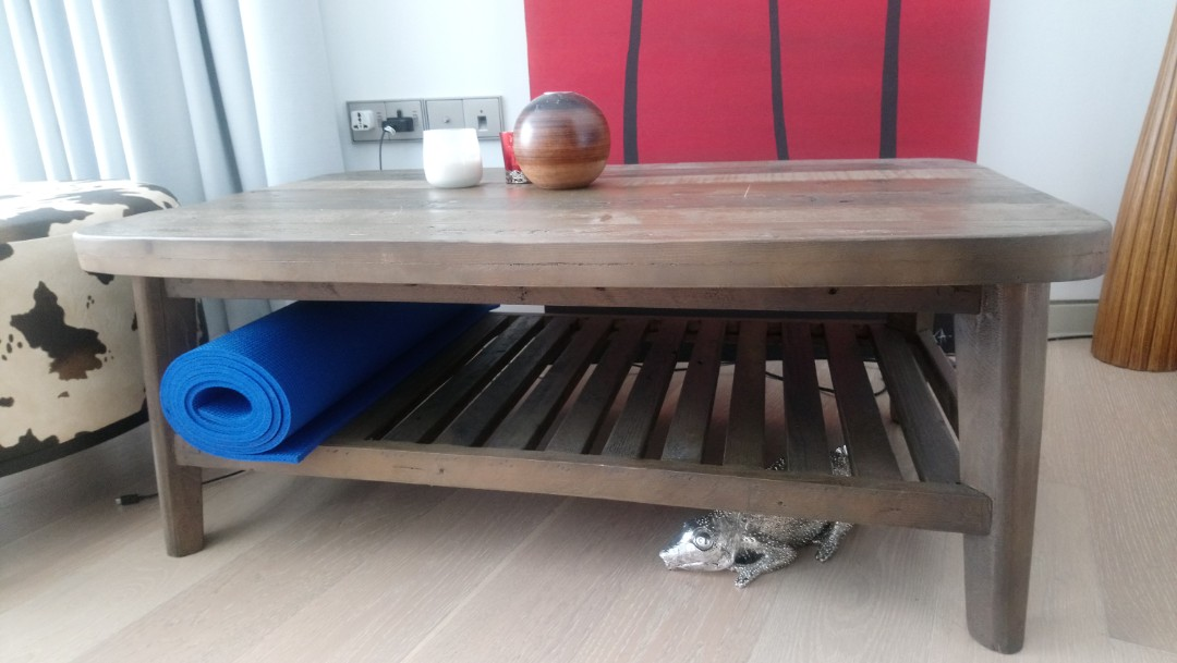 Castlery Wesley Chunky Wood Coffee Table As New Furniture Tables Chairs On Carousell
