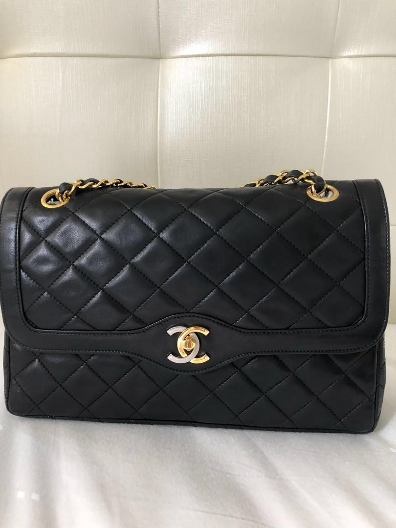 9a15657939fe Chanel vintage 2 tone classic double flap ( Best Price !) , Luxury, Bags &  Wallets, Handbags on Carousell