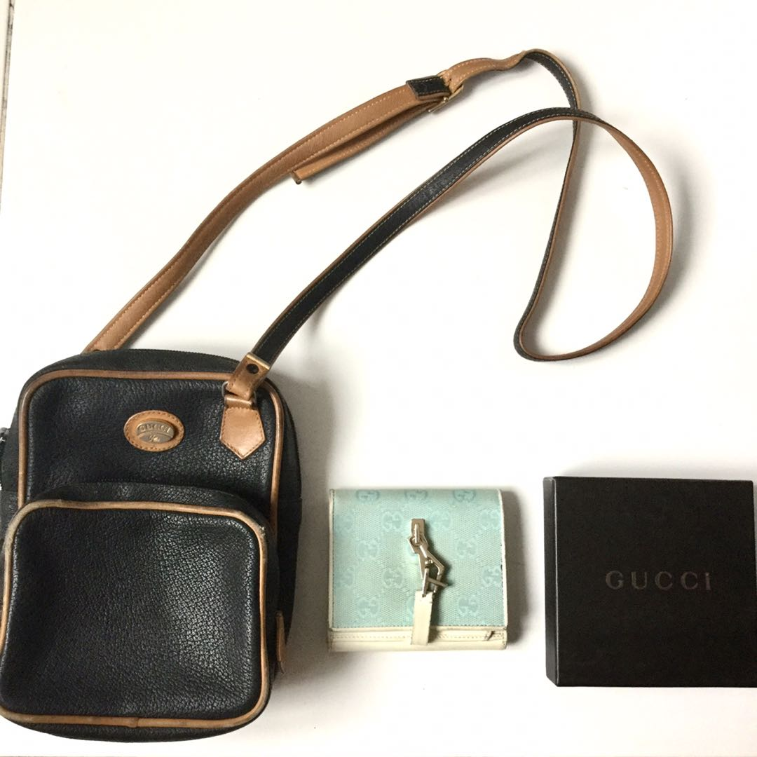 c17ab9c1179 CLEARANCE SALE  Authentic Vintage Gucci Bag and Wallet