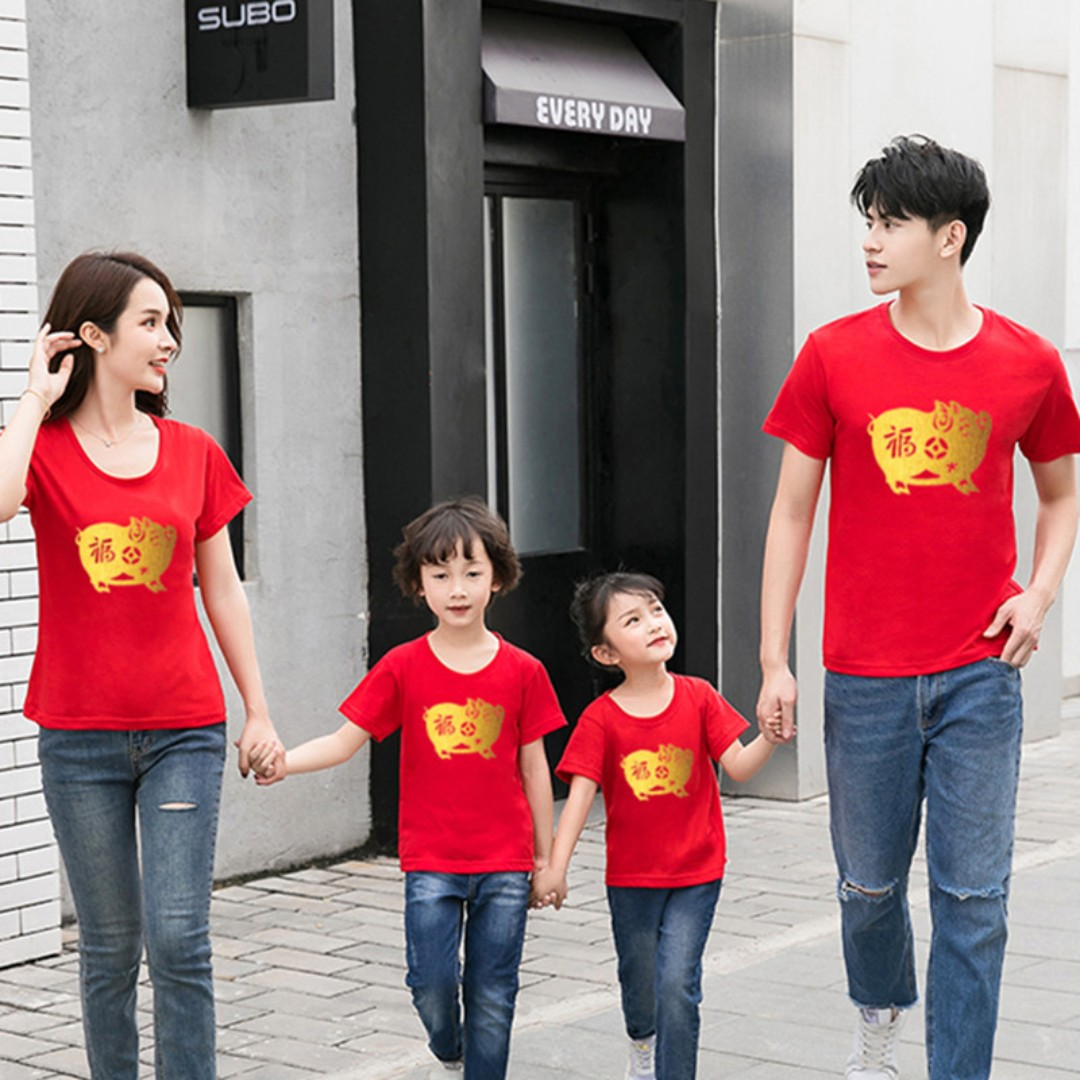 354bf6b59 ◣CNY 2019◥ Chinese New Year Couple Family Matching Fashion Clothes ...