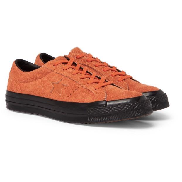 387398f1de9f Converse One Star Ox Suede Orange Black