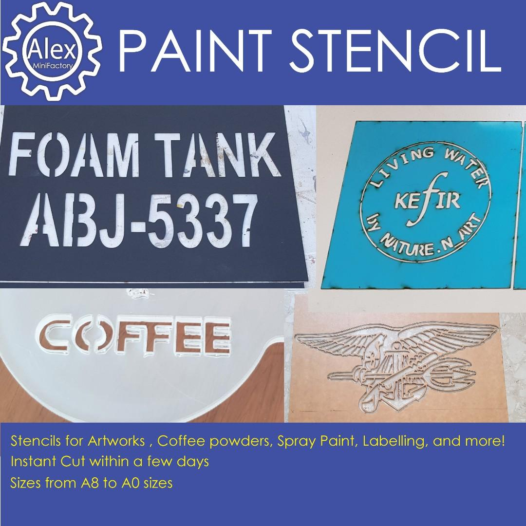 Custom Stencil For Spray Painting And Paint Brushing High
