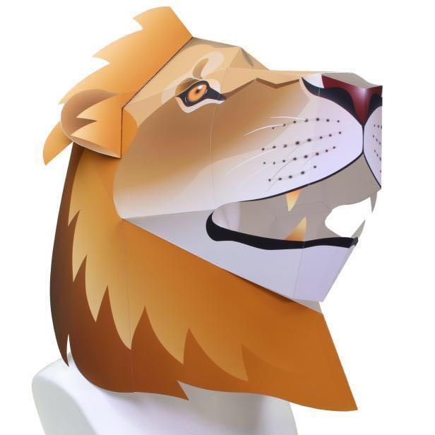 DIY 3D Animal Mask, head Mask lion, Toys & Games, Others on