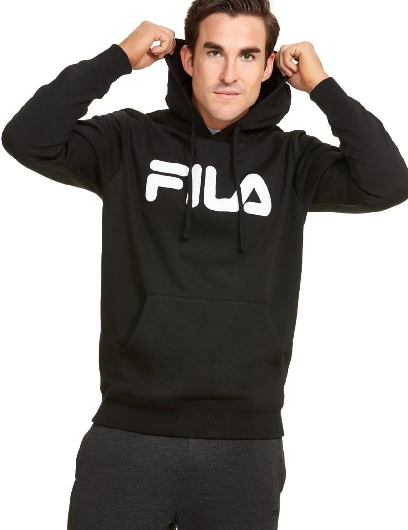 5a640b40f6 FILA Black Oversize Hoodie #ENDGAMEyourEXCESS, Men's Fashion ...