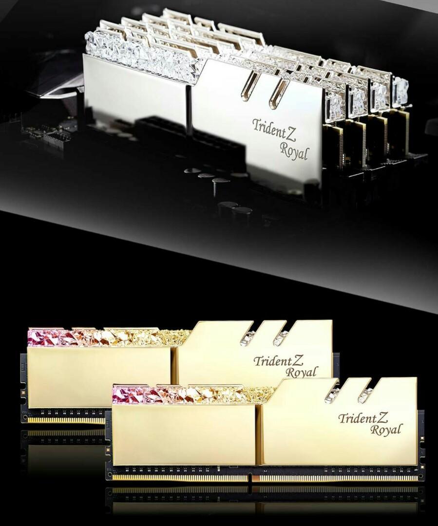GSKILL TRIDENT Z ROYAL GOLD DDR4-3200 CL16 16gb Kit 2x8gb F4