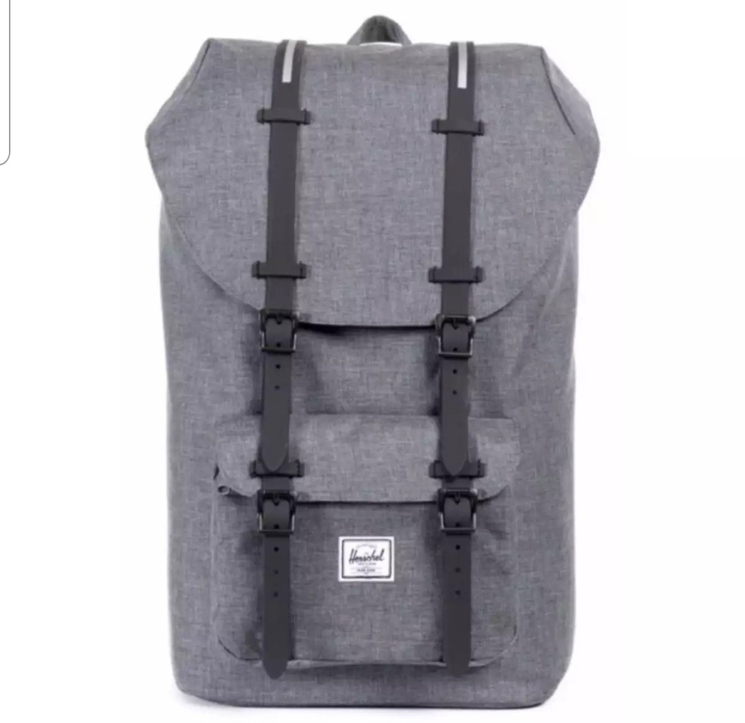 f39fa0cbd7e Herschel Supply Co. Little America Full-Volume Charcoal Crosshatch ...