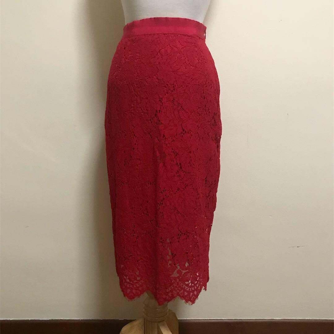 c9ec0a63c7 H&M Lacey Midi Skirt, Women's Fashion, Clothes, Dresses & Skirts on ...