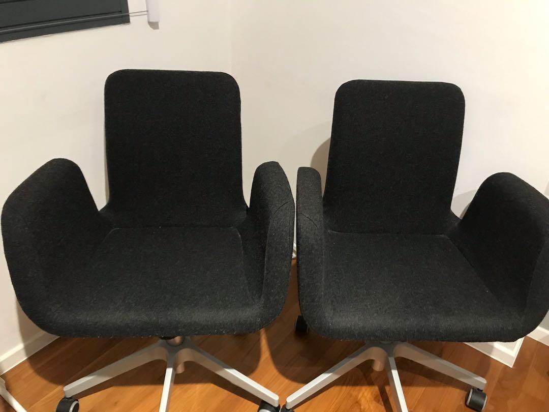 Pleasing Ikea Patrik Swivel Office Chair Grey Felt Furniture Tables Inzonedesignstudio Interior Chair Design Inzonedesignstudiocom