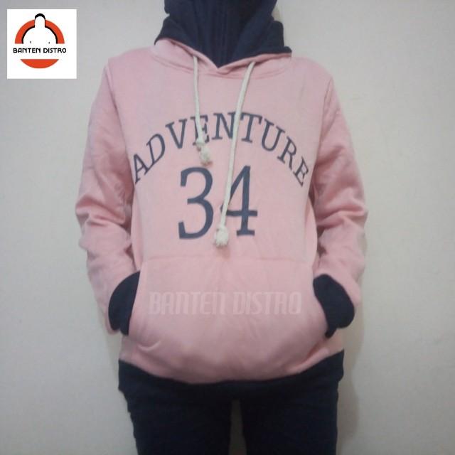 e4654a7de3b5 Jaket Sweater Hoodie Wanita Jumper ADVENTURE Pink Size L not ...