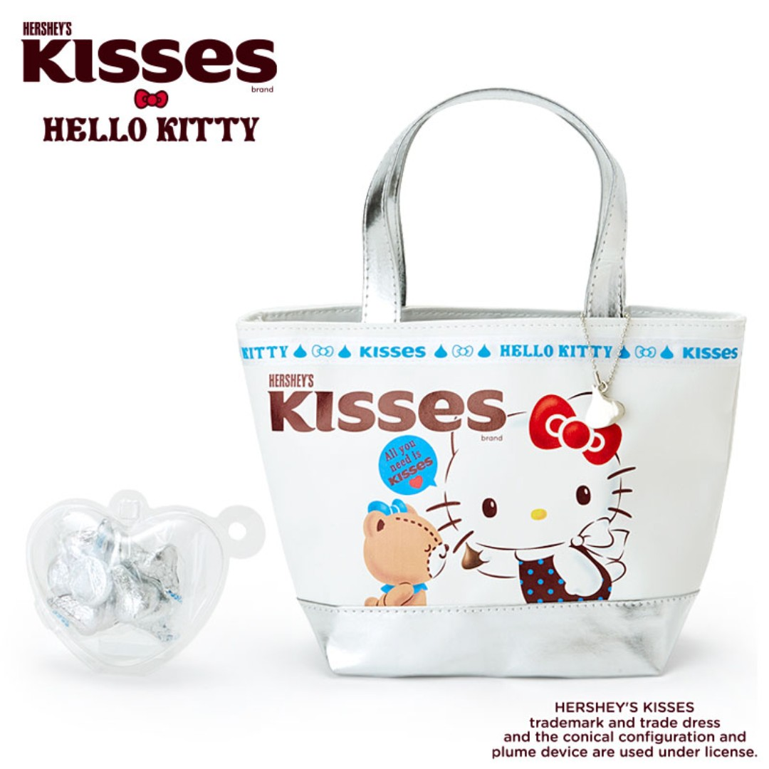 c59fc3f144 Japan Sanrio Hello Kitty × HERSHEY S Kiss Chocolate Handbag Bag with ...