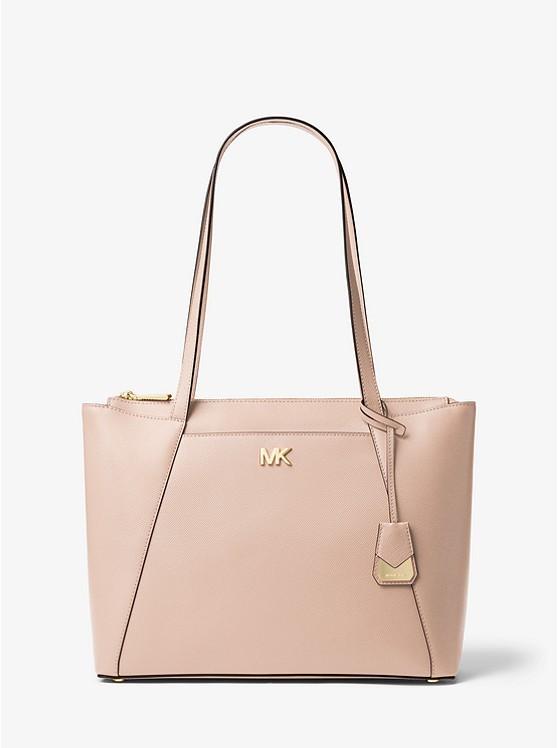 f5a6afb8b5a4 Michael Kors Maddie Medium Crossgrain Leather Tote, Luxury, Bags ...