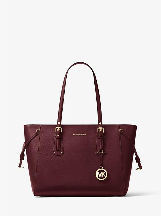 64b417623414 Michael Kors Voyager Medium Leather Tote, Luxury, Bags & Wallets ...